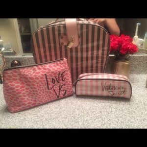 Victoria secret samsonite and makeup bags